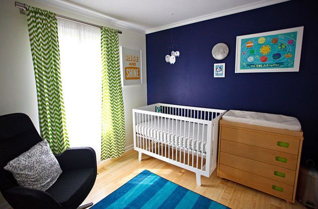 Color Trends Decorating With Navy Blue Drapery Street