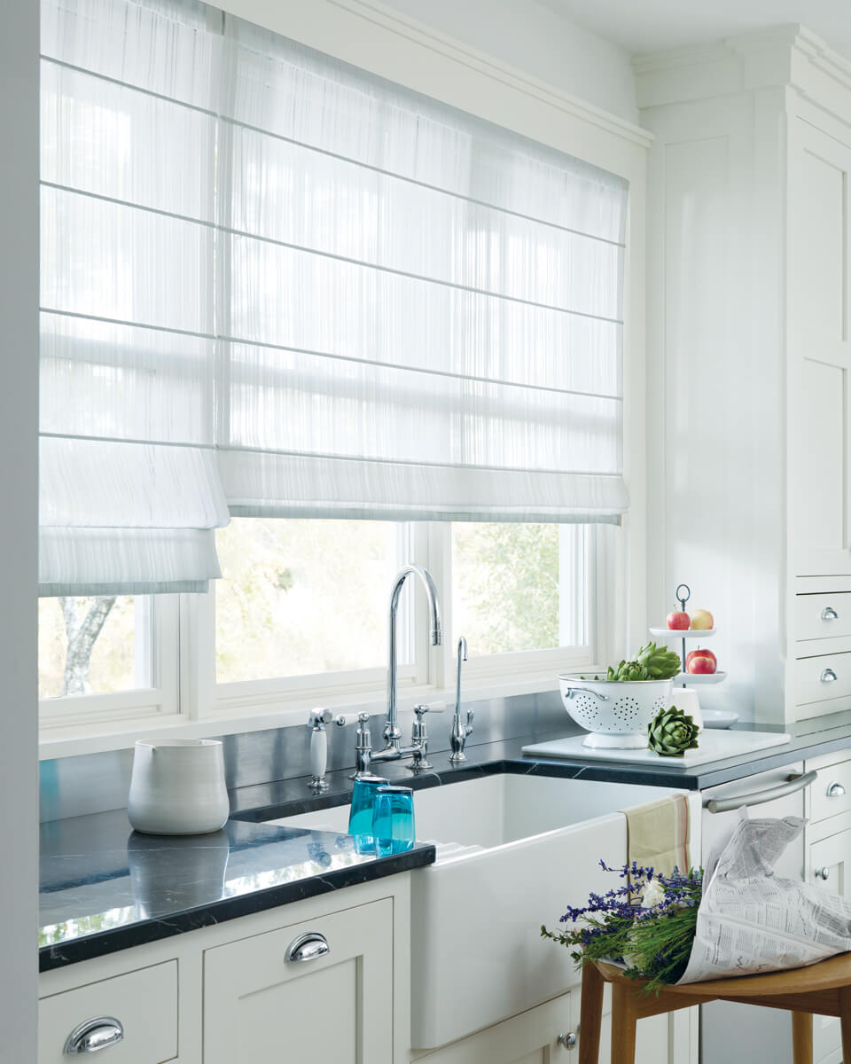 Our top 3 room picks for hunter douglas roman shades for Shades and window treatments