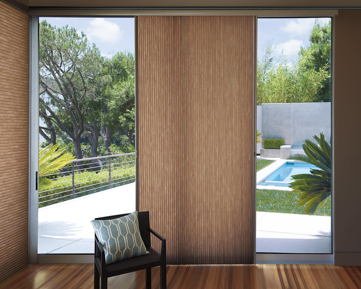 Window treatments for sliding glass doors drapery street for Shades and window treatments