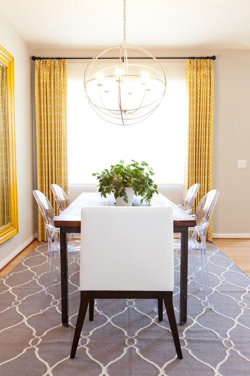 Decorating with yellow for Eclectic dining room design ideas