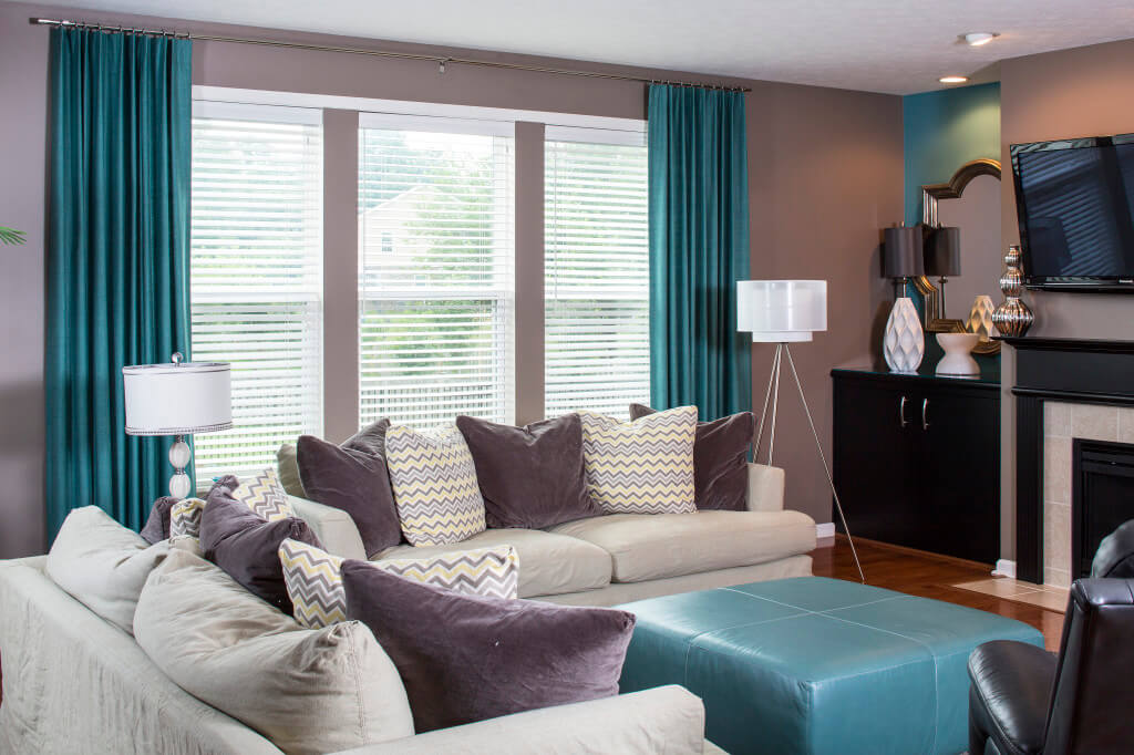 Color Trend Decorating With Turquoise Drapery Street