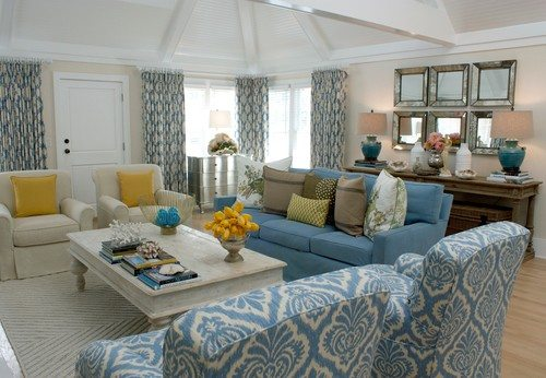 Ikat pattern in a living room