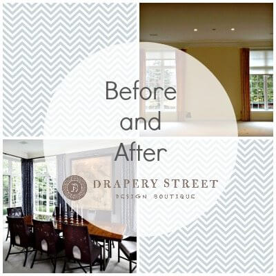 drapes before and after