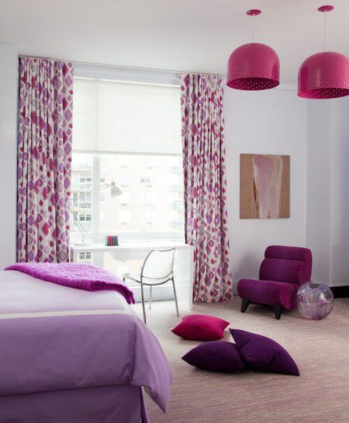 Radiant orchid pantone color of the year drapery street for Jugendzimmer colors