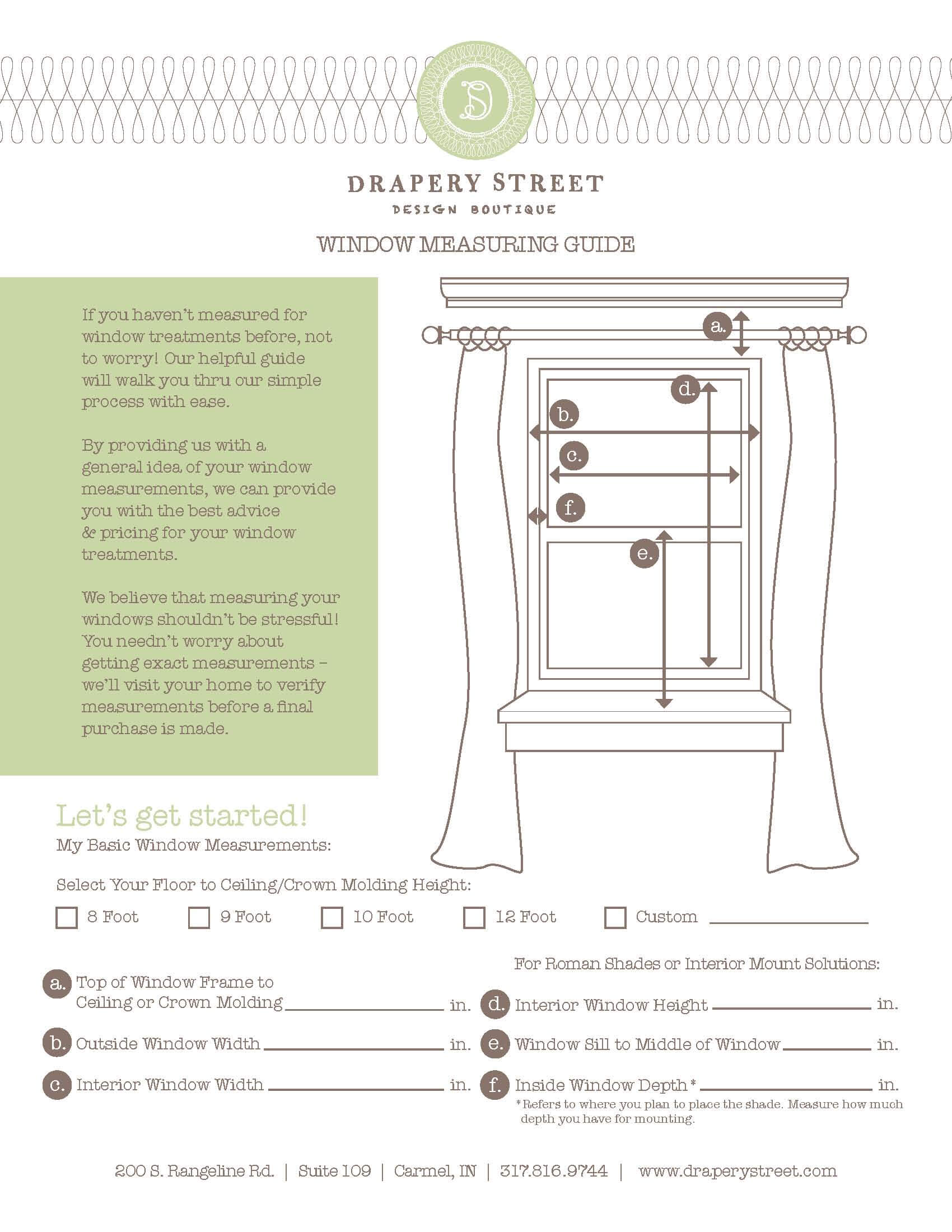 How To Measure Windows For Drapes And Window Treatments Drapery Street