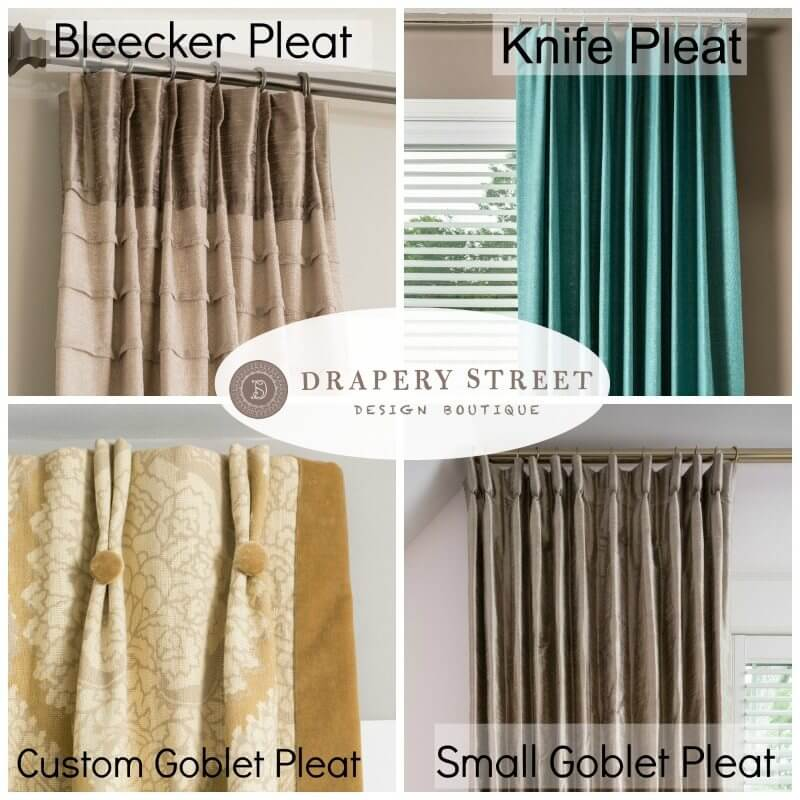 Top 3 Most Popular Drapery Pleat Styles Drapery Street