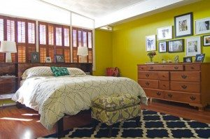 Decorating with Navy and Lime Green - Drapery Street