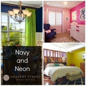 Decorating with Navy Blue and Neon - Drapery Street
