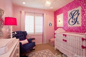 Decorating with Navy and Hot Pink - Drapery Street