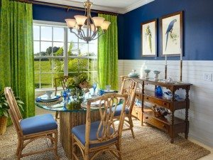 Decorating with Navy and Neon - Drapery Street