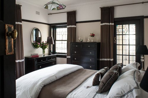 chocolate brown drapes 12211 | traditional bedroom 1