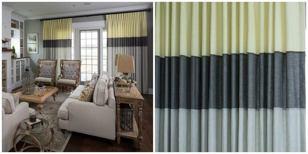 Decorating With Horizontal Striped Drapes