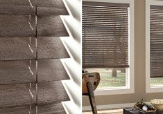 Sustainable Materials, Natural Beauty: Parkland Weathered Wood Blinds