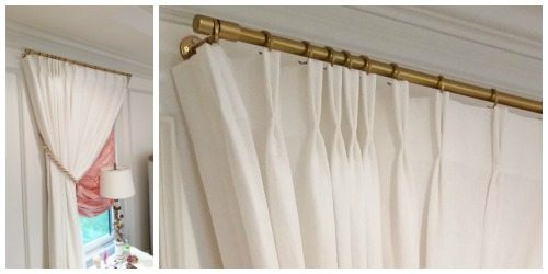 gold drapery rods decorative curtain white drapes with gold hardware design trend drapery