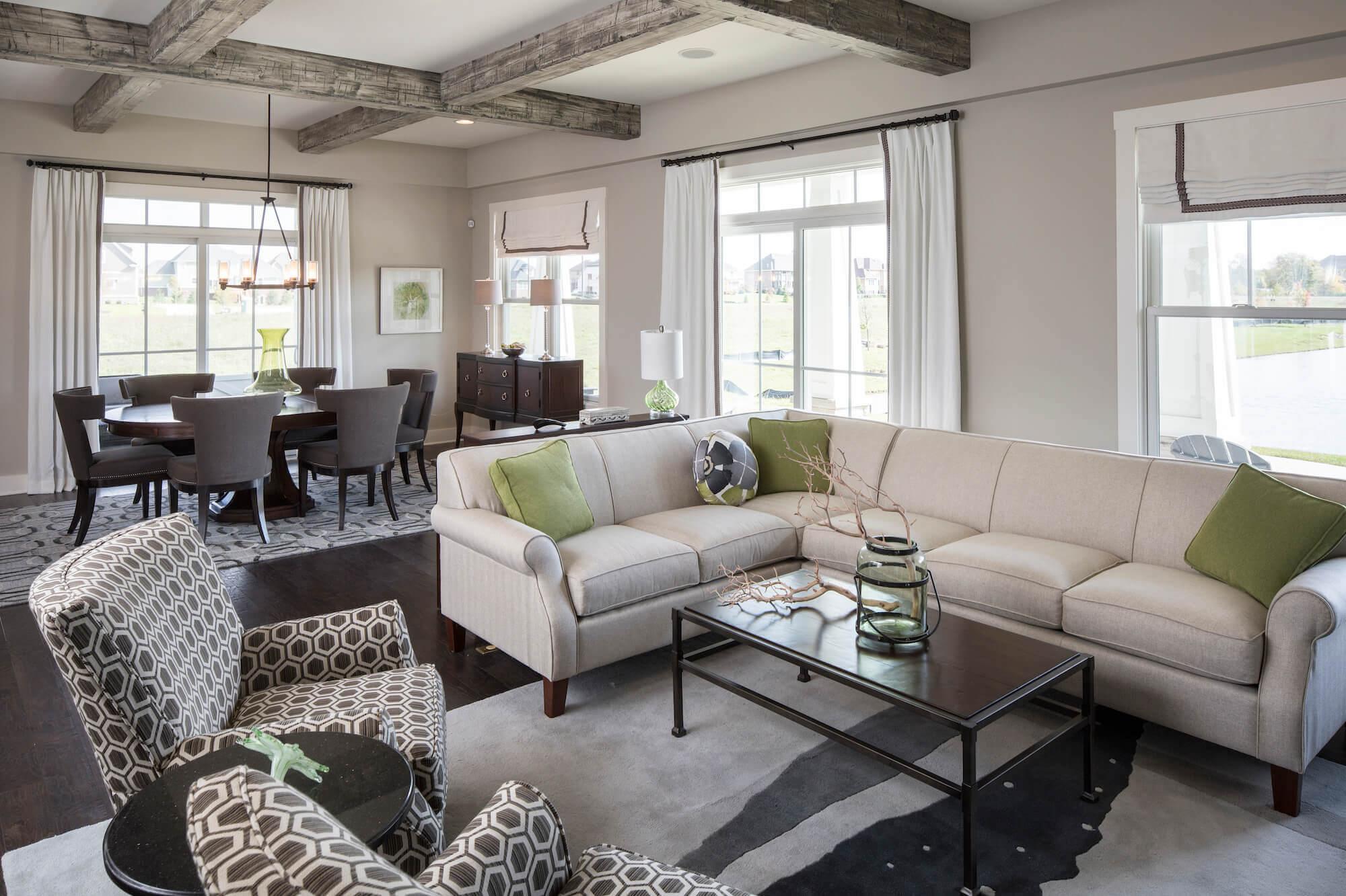 Gradison Model living room curtains