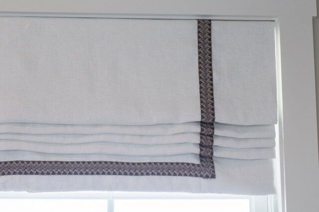 Valance with braided trim
