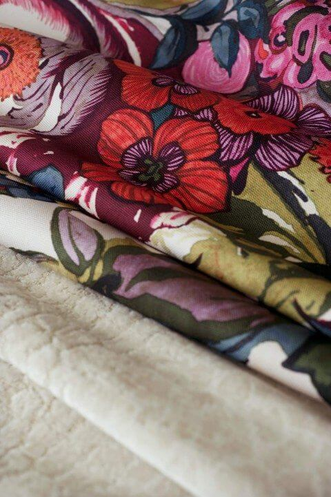 Fabrics Secret Garden and Mombasa