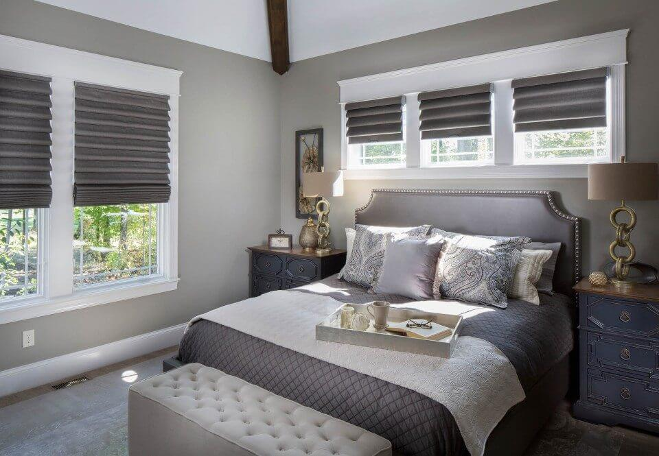 Master Bedroom Roman Shades