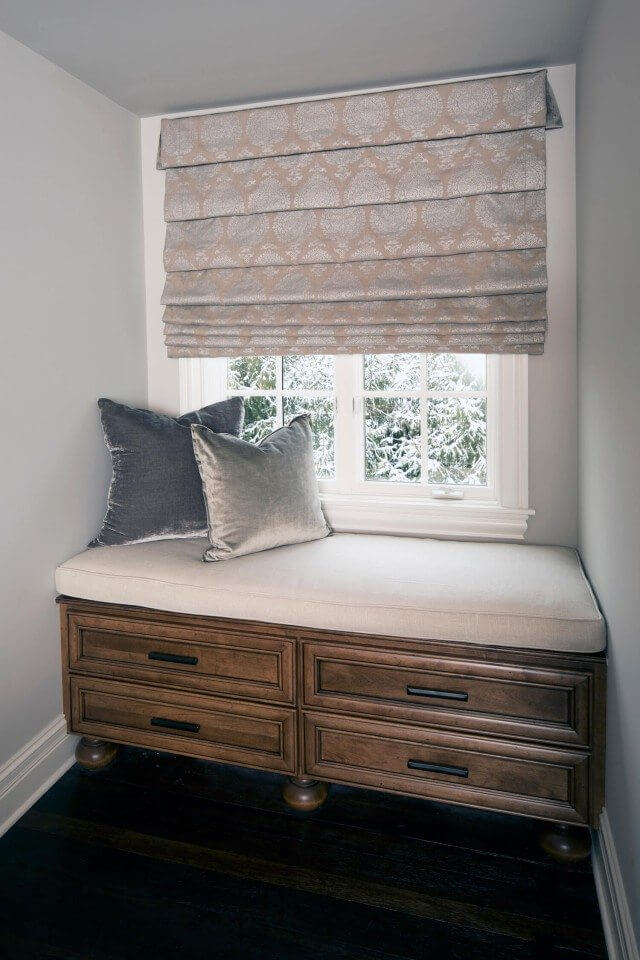 Reading Nook with Patterned Shade