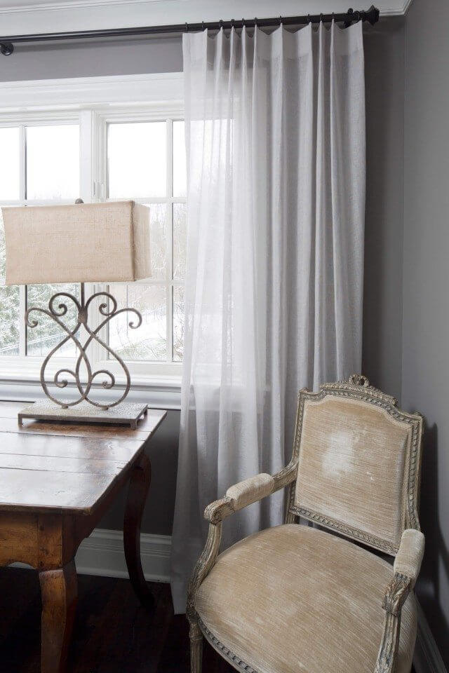 Sheer Drapes with Pleats