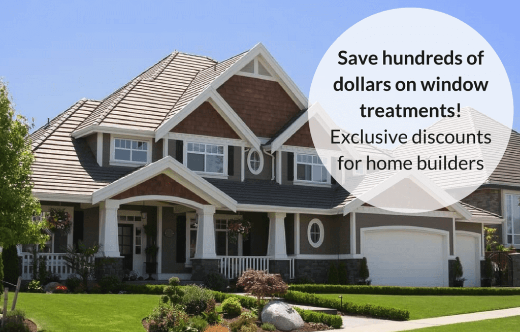 discounts on window treatments for home builders in indiana