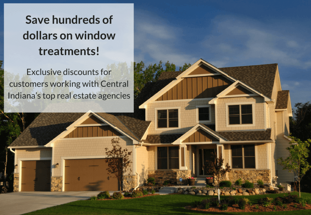 Buying a home in Central Indiana? Receive an exclusive discount on window treatments!