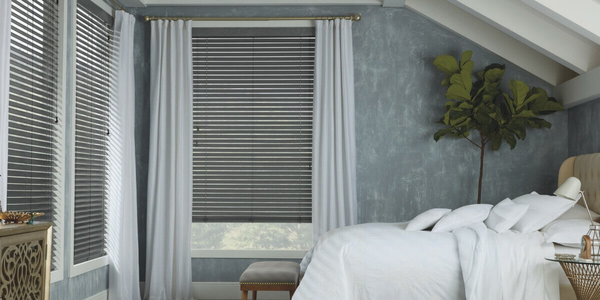 Automated Parkland Wood Blinds