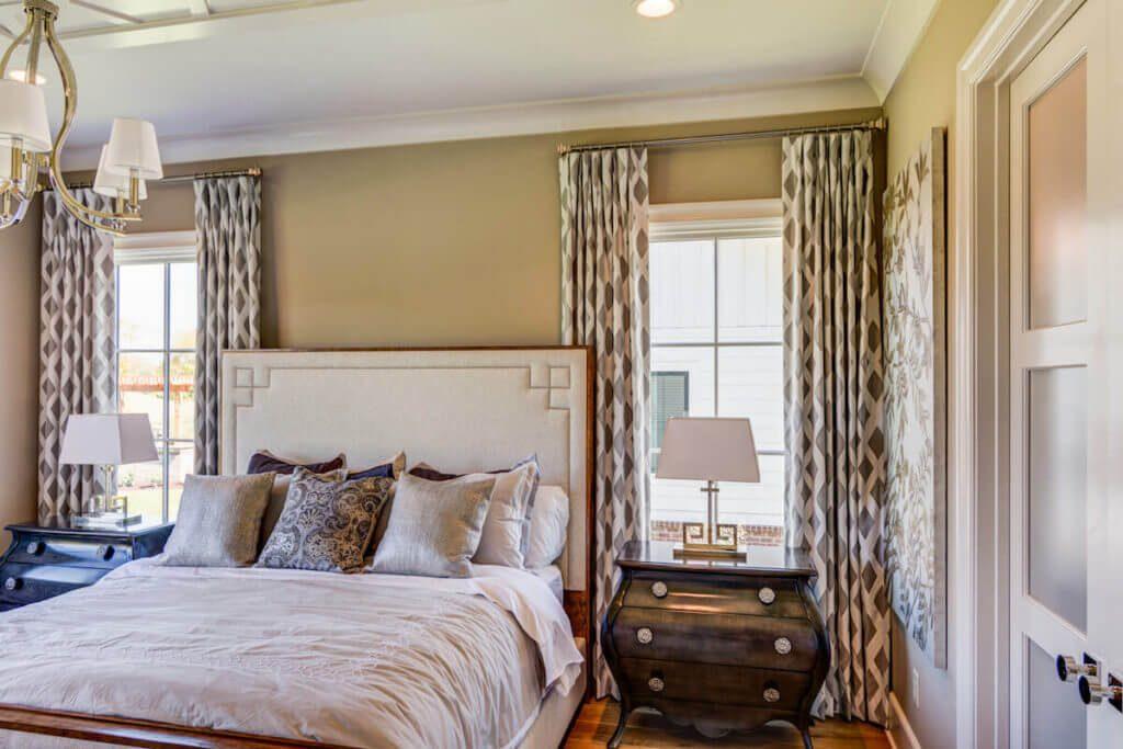 Master bedroom drapes