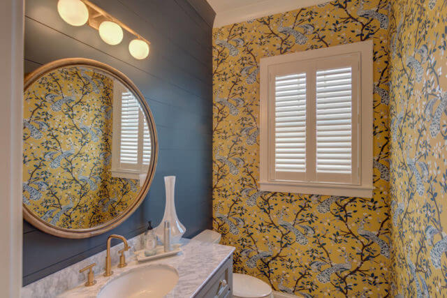 Maple Ridge Powder Room - Custom Shutters
