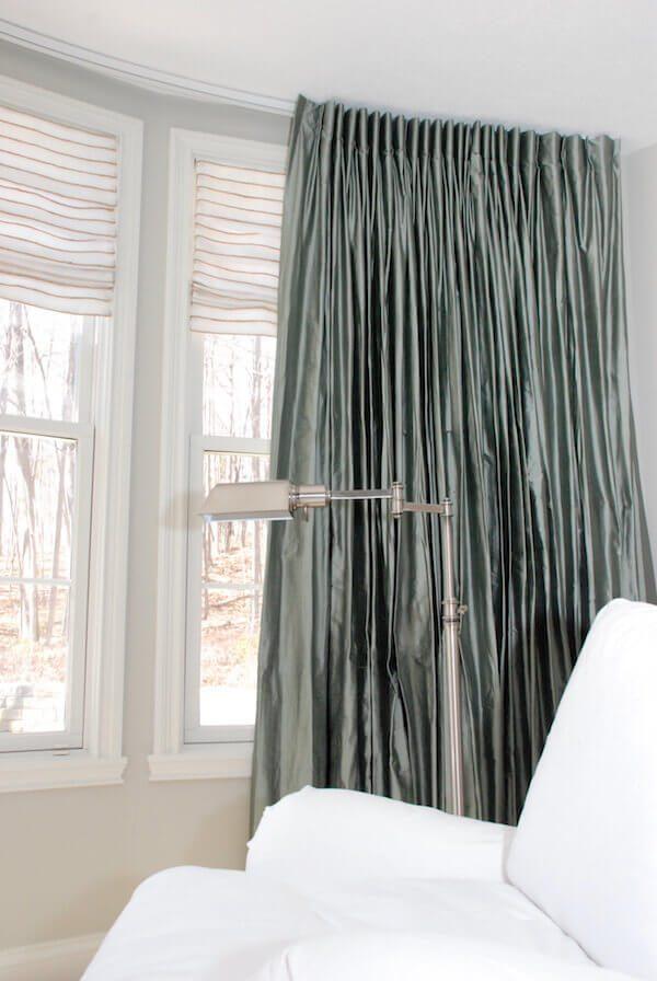 different window treatments shaped valance combining different window treatment types hard and soft treatments drapery street