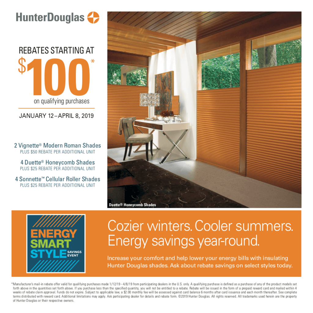 Hunter Douglas Promo - Winter 2019