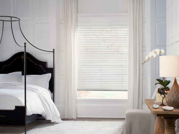 Hunter Douglas Parkland® Wood Blinds with PowerView® Motorization