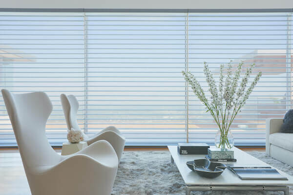 For over 25 years, Silhouette® Window Shadings have been the leader in light diffusion. They diffuse strong incoming light and create a soft glow in your home.The white rear sheer obscures the view into your home, providing daytime privacy.