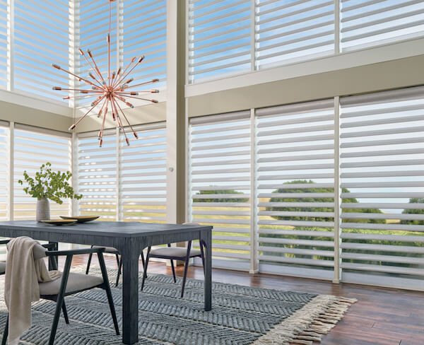 Window Treatment Innovations from Hunter Douglas and Drapery Street: Pirouette® ClearView® Shades
