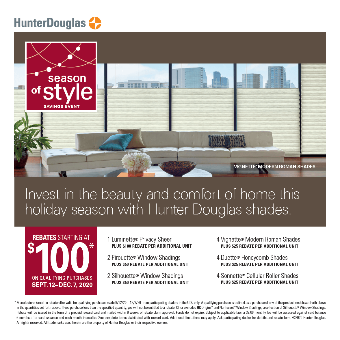 Hunter Douglas Energy Smart Style